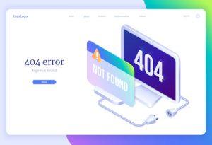 404 error lost page
