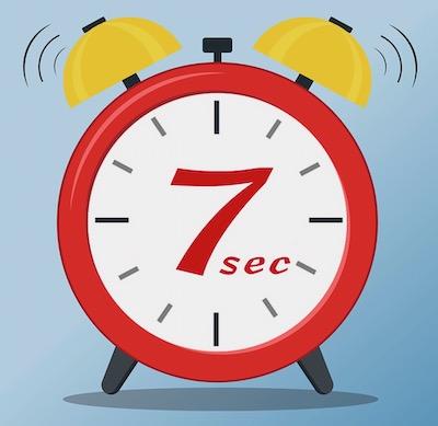7 second impression