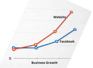 Businerss-Growth Facebook vs Website