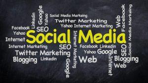 social media word web